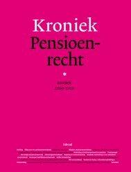Kroniek Pensioenrecht 2009 - pensioenadvocaten - pensioen ...