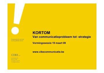 strategie presentatie Goedele Schuerman - Kortom