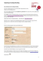 Vejledning for den endelige tilmelding - Spejdernes Lejr 2012