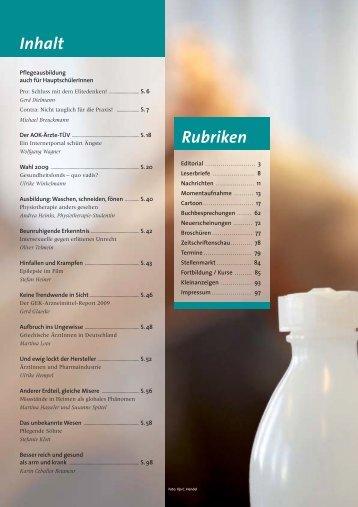 Inhalt Rubriken - Mabuse Verlag