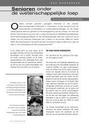 Senioren onder de wetenschappelijke loep - Vlaamse Ouderenraad