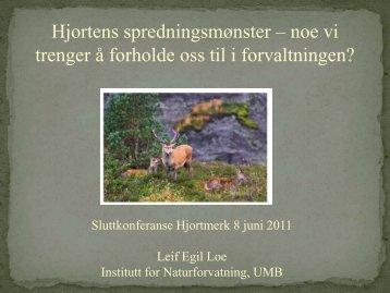 Hjortens spredningsmønster - Hjortmerk