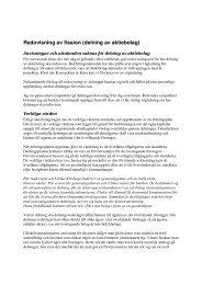 Redovisning av fission (delning av aktiebolag)