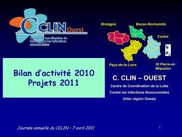 Organisation de la lutte contre les infections ... - CClin Ouest