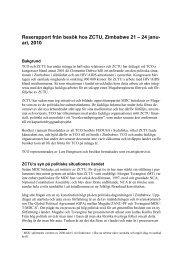Rapport från besök hos ZCTU, jan 2010 - LO TCO Biståndsnämnd