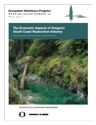 The Economic Impacts of Oregon's South Coast Restoration Industry