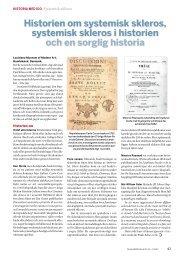 ReumaBulletinen 2012, Nr 85 - Svensk Reumatologisk Förening