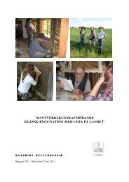 Lerhantverksrapp7 dec 2011.pdf - Knadriks Kulturbygg