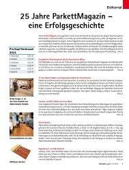 25 Jahre ParkettMagazin - beim SN-Fachpresse Verlag