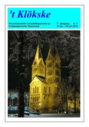 Het Klökske Jaargang 7 no. 1 (21 jan - 4 mrt 2013) - Roermond ...