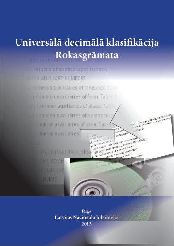 Universālā decimālā klasi kācija Rokasgrāmata - anaZana