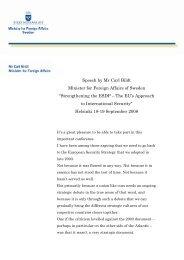 Speech by Mr Carl Bildt - Regeringen