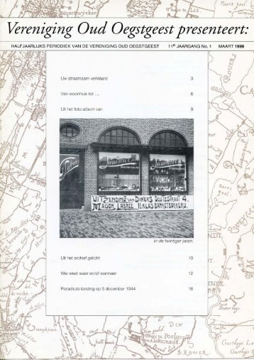 Over Oegstgeest maart 1999 - Vereniging Oud Oegstgeest