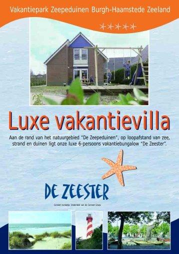 Vakantiepark Zeepeduinen Burgh-Haamstede Zeeland - Comeet
