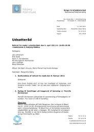 Referat fra møde i udsatterådet den 5. april - Esbjerg Kommune