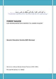 FORENT NASJON - Quranic Education Society