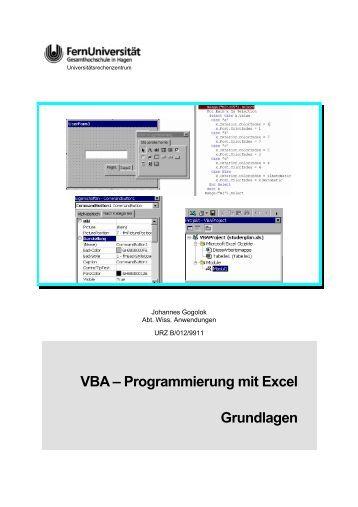 VBA – Programmierung mit Excel Grundlagen