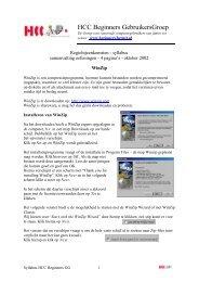 pdf-formaat (171 Kb) - HCC Beginners Gebruikers Groep