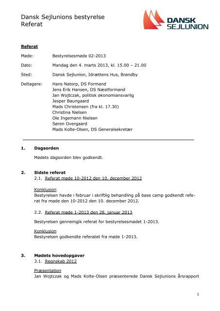 DS-Bestyrelse_REFERAT_02-2013_4mar.pdf.pdf ... - Dansk Sejlunion