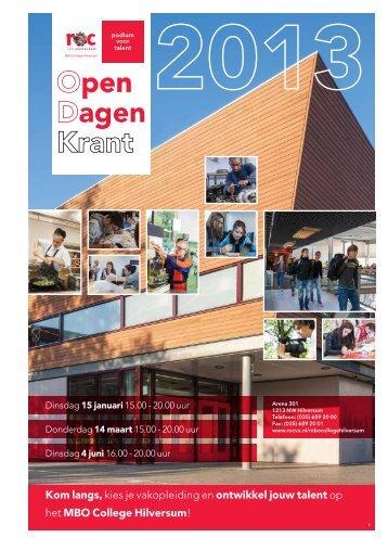Bekijk ook onze open dagen-krant - ROC van Amsterdam