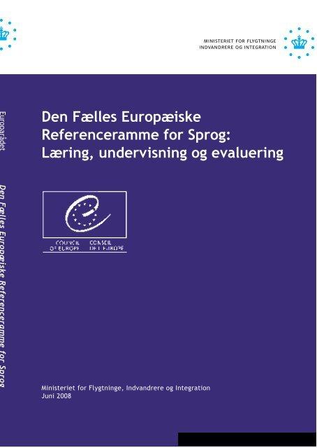 3ec7df2b8 Den Fælles Europæiske Referenceramme for Sprog: Læring ...