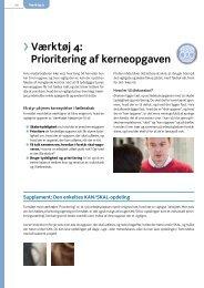 Værktøj 4: Prioritering af kerneopgaven - Arbejdsmiljoweb.dk