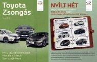 Friss, tavaszi újdonságok Kiemelt ajánlatok Szervizajánlatok - Toyota