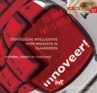 'Strategische intelligentie over innovatie in Vlaanderen' (hfdst ... - IWT