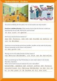 Opdrachtkaart Keuken - Joods Historisch Museum