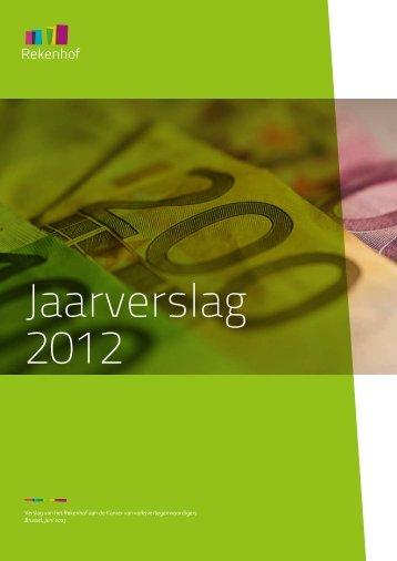 Jaarverslag 2012 - Cour des comptes