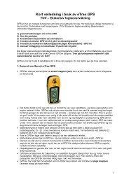 Veileder i bruk av GPS – etrex H - NINA