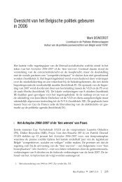 Overzicht van het Belgische politiek gebeuren in 2006 - Acco