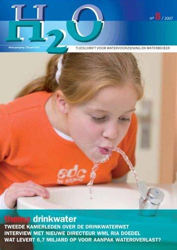 thema drinkwater - H2O - Tijdschrift voor watervoorziening en ...