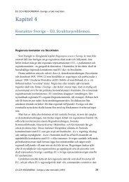 Kapitel 4 - Sverige och regionerna - Stiftelsen Skånsk Framtid
