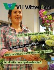 Vi i VätterHem nr 1 2011 - Bostads AB VätterHem