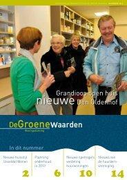 Bewonersblad uitgave december 2012 - Goed Wonen