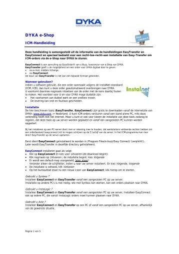 E-shop handleiding ICM-transfer - Dyka