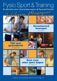 Download het Jubileummagezine - Fysio Sport & Training