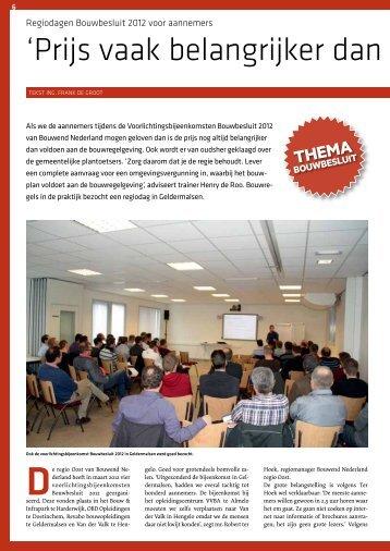 Regiodagen Bouwbesluit 2012 voor aannemers - Roobeek Advies