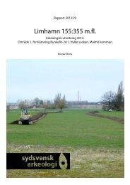 Limhamn 155:355 m.fl. Arkeologisk utredning 2012. - Sydsvensk ...