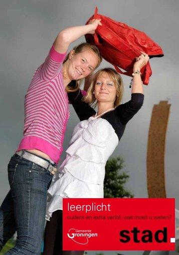 Folder gemeente Groningen Extra Verlof. - Borgmanschool