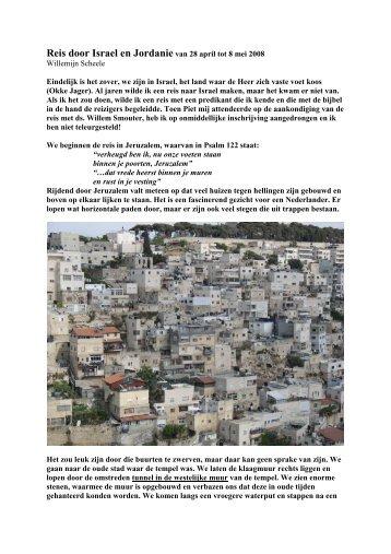 Reis door Israel en Jordanie van 28 april tot 8 mei ... - Smouter.net