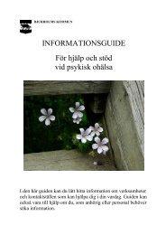 INFORMATIONSGUIDE För hjälp och stöd vid ... - Bjurholm kommun