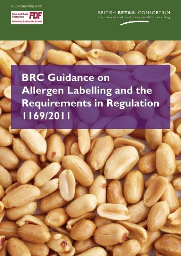 BRC Guidance on Allergen Labelling - Food & Health Innovation ...