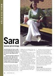 18 Mitt i livet Sara lyssnar på sin kropp - Välkommen till ...