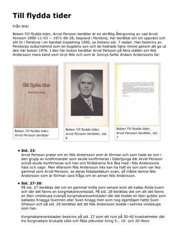 Till flydda tider om Nils Andersson.pdf - Jonny och Ann-Christine