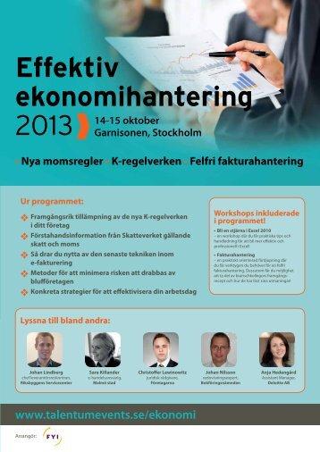 Effektiv ekonomihantering - Talentum Events