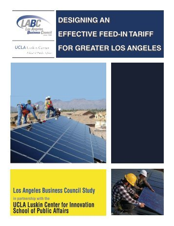 DESIGNING AN EFFECTIVE FEED-IN TARIFF FOR GREATER lOS ...