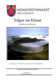 Frågor om Klimat - Lagmans natursida