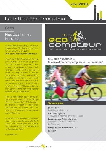 Eté 2010 - Eco Compteur